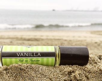 VANILLA    Roll on Perfume    Travel Perfume     Birthday Gift    Long lasting perfume    vegan perfume     25% off sale on your FIRST order