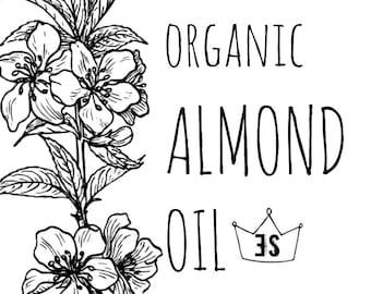 Organic Almond Oil - Organic Sweet Almond Oil - Cold Pressed Unrefined Almond Oil - Organic Oil - Massage Oil