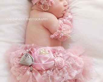 Newborn/Infant Pink  Headband,Pink Elastic Headband, Vintage Pink Headband, Couture Headband,Baby Girl Photo Prop
