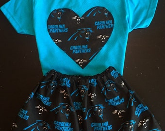 Carolina Panthers Girls Outfit, Carolina Panthers, Carolina, Dab on Em, Cam Newton, kids panther skirt
