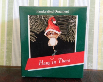 "Hallmark Keepsake Mouse Ornament ""Hang In There"""