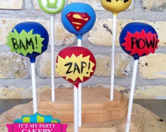 Super Hero Cake Pops - 1 Dozen