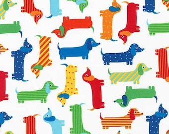 Robert Kaufman Urban Zoologie Dogs Primary Quilters Cotton Fabric BTY