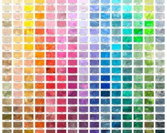 Hoffman Digital Watercolor Pallette  Quilters Cotton Fabric BTY