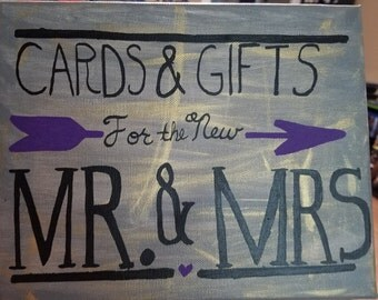 Sign for gift and card table
