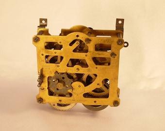 Brass Clock Works Gears Galore