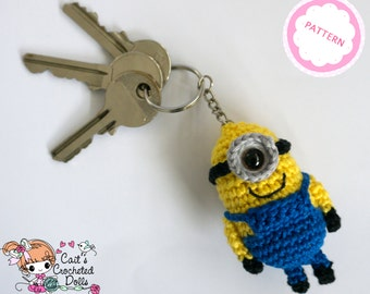 PATTERN crocheted Despicable Me Minion keychain