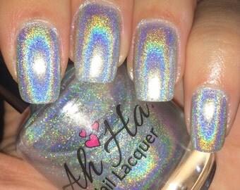 Precious Silver Linear Holographic Polish