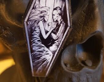 Till death do us part coffin ring