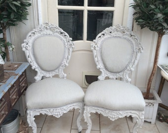 Pair 1900s French chairs