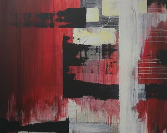 Original Abstract Synaesthetic Painting - Mega City Four