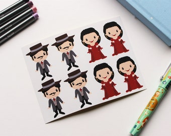 Gone with the Wind (Rhett and Scarlett) Stickers #2 |Perfect for Life Planners, Planning, Bullet Journals and Scrapbooking | 2 inches