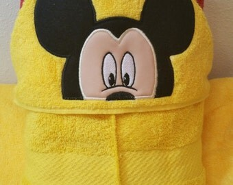 Mickey Hooded towel-Mouse inspired