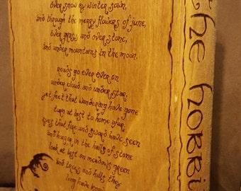 Wood Book Box-The Hobbit
