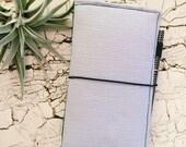 Planner Wallet / Passport Wallet - Gray Ticking Stripe