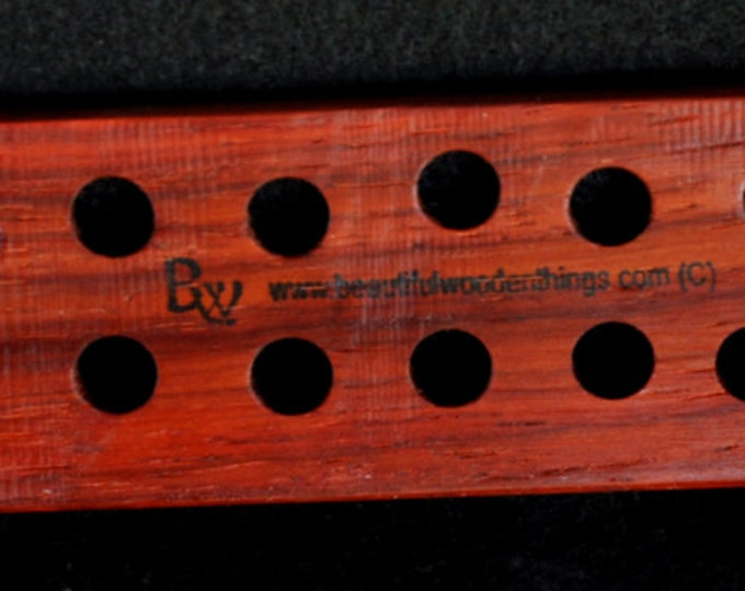 1-hand made floss /thread palettes made from exotic pakka wood