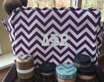 Delta Phi Epsilon cosmetic bag