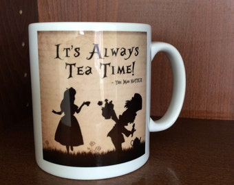 Alice in Wonderland Inspired Coffee Mug