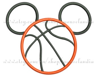 Cute  basketball mouse  Applique Design Embroidery. 3 sizes 4X4, 5X7 and 6X10. Instant Download