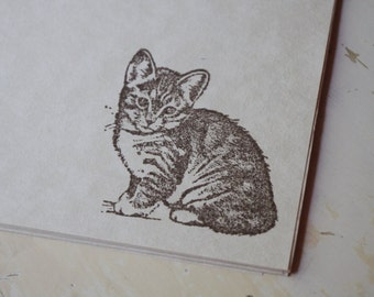 Kitten Stationery, Cat Stationery, Stationery Set, Cat Stamp, Letter Writing Set, Stamped Stationery, Kitten Stamp, Writing Paper, Cat Lover