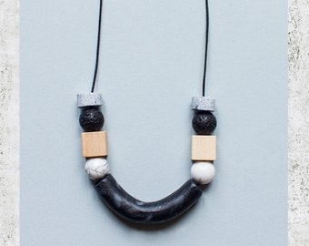 Necklace Magma / Obsidian #1