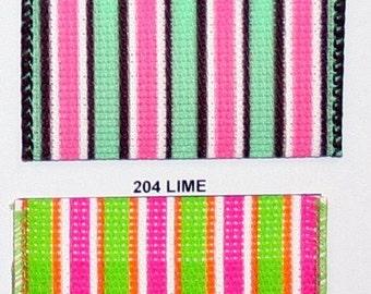 "2.5"" x 15yds STRIPE MAGIC Wired Edge Ribbon- Pistachio / 90804W"