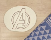 Avengers Cookie Cutter - Marvel Comics Avengers Geek Superhero Symbol Super Hero Sign Thor Iron Man Baking Supply  - 3D Printed