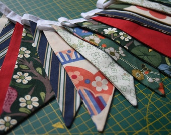 Vintage/ Recycled/ Retro Fabric Bunting/ Garland