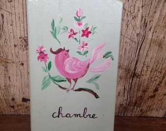 Handpainted French Bedroom Door sign