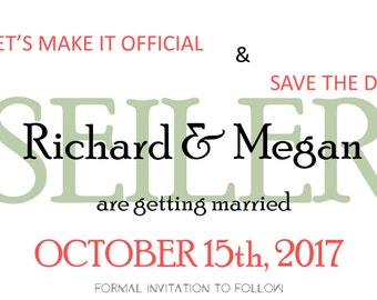 Let'sMakeitofficial Save the Date Personalized