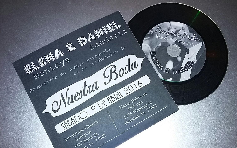 Record Wedding Invitations: Music Record Vinyl Wedding Invitation
