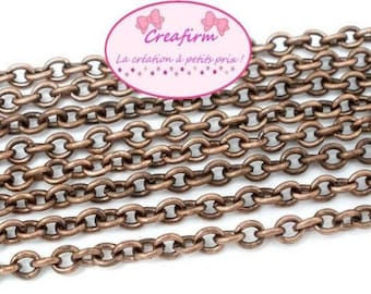 10 m chain copper mesh convict 3.5x2.5mm