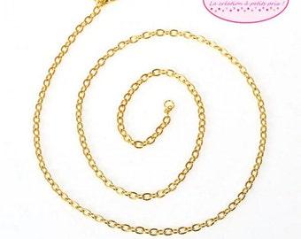 12 necklaces chain convict gold 40cm