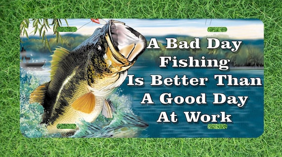 Bass fishing license plate car tag or bike tag by fastnfuntags for Fishing license illinois