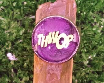 Comic Book Adjustable Ring - THWOP! Deadpool Marvel Comics