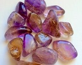 Ametrine Tumbled Polished Crystal High Vibration Energy Healing Chakra Clearing Release Balance Soulmate free eBook guide velvet pouch