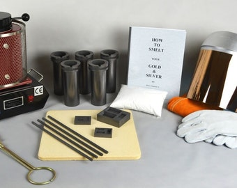 """3 Kg """"Deluxe"""" Gold Melting Electric Furnace Kit to Melt Gold, Silver, Precious Metals Cast and Pour your own Ingot Bars! KIT-0049"""