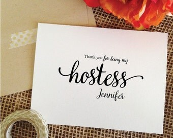 THANK YOU for being my hostess card thank you hostess gift Hostess bridal shower wedding card (Lovely)