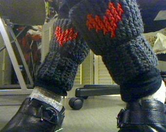 crochet leg warmer red heart