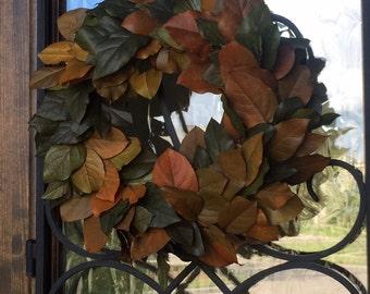 Natural Preserved Salal Leaf, Lemon Leaf Wreath