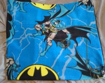Pillowcases, Pillow case, pillow cases - Assorted Licensed Styles - DC Comics Batman on blue fleece and black cotton