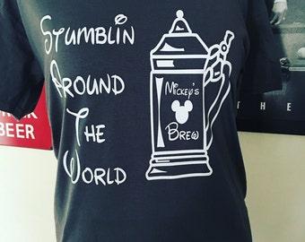Stumbling Around The World! Drinking around the world Epcot T-Shirt