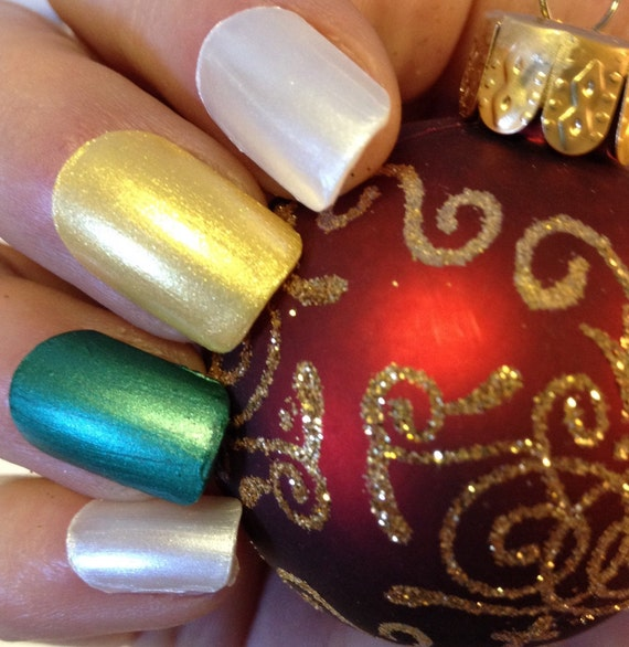 Oh What Fun! Holiday Christmas Nail Polish Set, Gift For Her, Hostess Gift, Stocking Stuffer, Gift Under 20