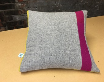Signature Colour Block Cushion - vertical stripe