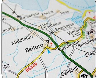 Belford Map Coasters