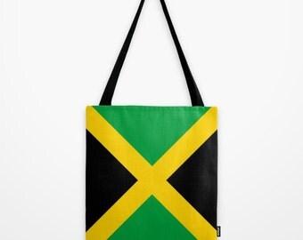 Tote bag Jamaica Flag Jamaica Canvas Bag Jamaica Tote Bag Jamaica Flag Canvas Bag Jamaica Country Tote Bag Jamaica Country Rio Olympics Bag