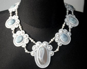 soutache jewelry necklace statement necklace
