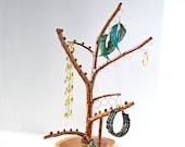 Jewelry Tree, Wood Branch, Jewelry Hanger, Jewelry Display, Jewelry Holder, Jewelry Rack, Jewelry Organizer, Wooden Decor, Cedar,Copper,Wood