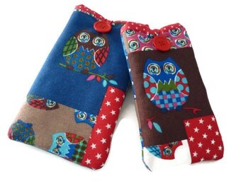 iPhone 6s Plus fabric case owl / iPhone 6s phone cover  / Padded iphone 6 case Owl Fabric