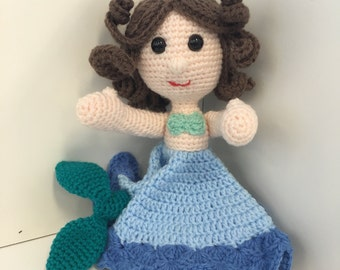 Mermaid Lovey / Security Blanket / Comforter
